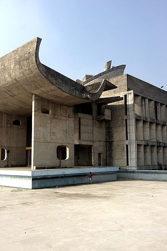 Palace of the Assembly, Chandigarh, India.  Corbusier. 1963