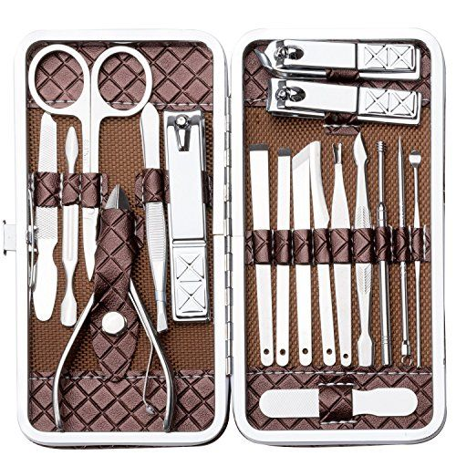 Nail Clippers Set Stainless Steel Nail Clipper Manicure Set Manicure & Pedicure 18Pcs Arnzion. For product & price info go to:  https://beautyworld.today/products/nail-clippers-set-stainless-steel-nail-clipper-manicure-set-manicure-pedicure-18pcs-arnzion/
