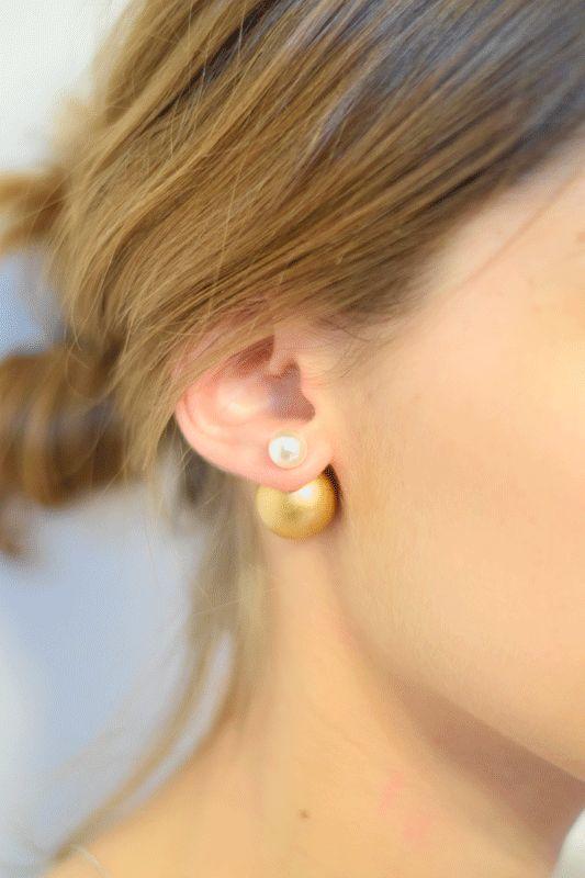 """DIY : des boucles d'oreilles façon """"Mise en Dior""""  #earings #cbyclemence"""
