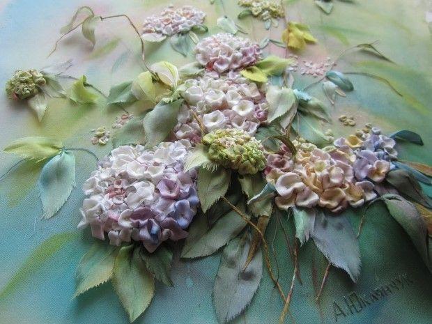 Angela Yuklyanchuk obrazy vysivane stuhami 12a