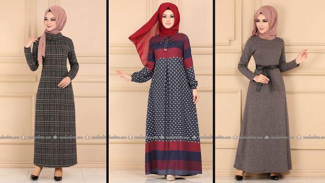 Modaselvim 2020 Kislik Elbise Modelleri 4 34 2020 Kislik Tesettur Modas Harika Model In 2020 Fashion Hijab Fashion Dresses