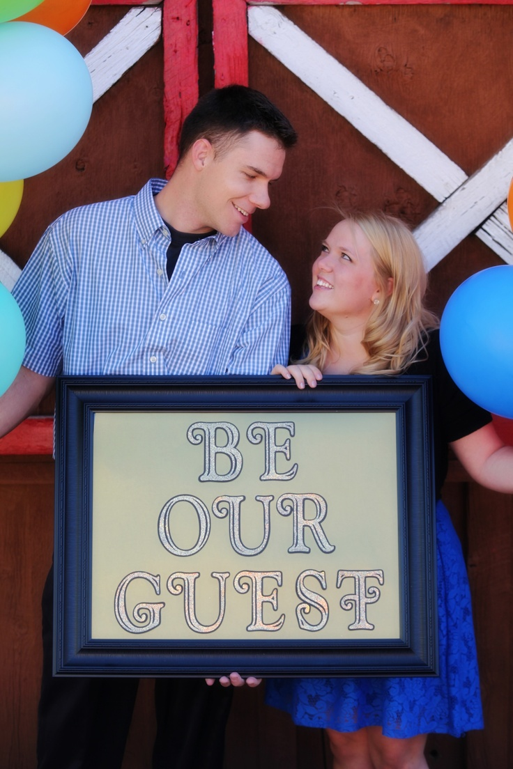 Our Engagement Photo  Disney themed! Love balloons