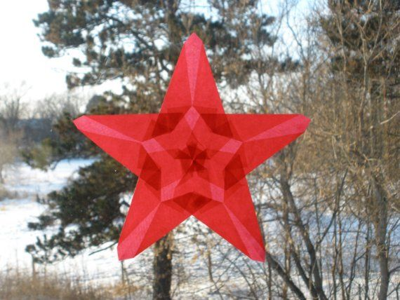 Schmücken Sie Ihr Hause, Valentinstag Party oder Geburtstagsfeier mit diesem Set von sechs 6 Feuer-rot Fenster Sternen. Diese lebendige Suncatchers würde machen eine schöne Sammlung in Ihrem Fenster - oder als Geschenk für besonderen Menschen in Ihrem Leben zu geben. Wenn Sie die
