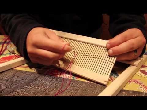 How to warp a Beka 10 inch Rigid Heddle Loom