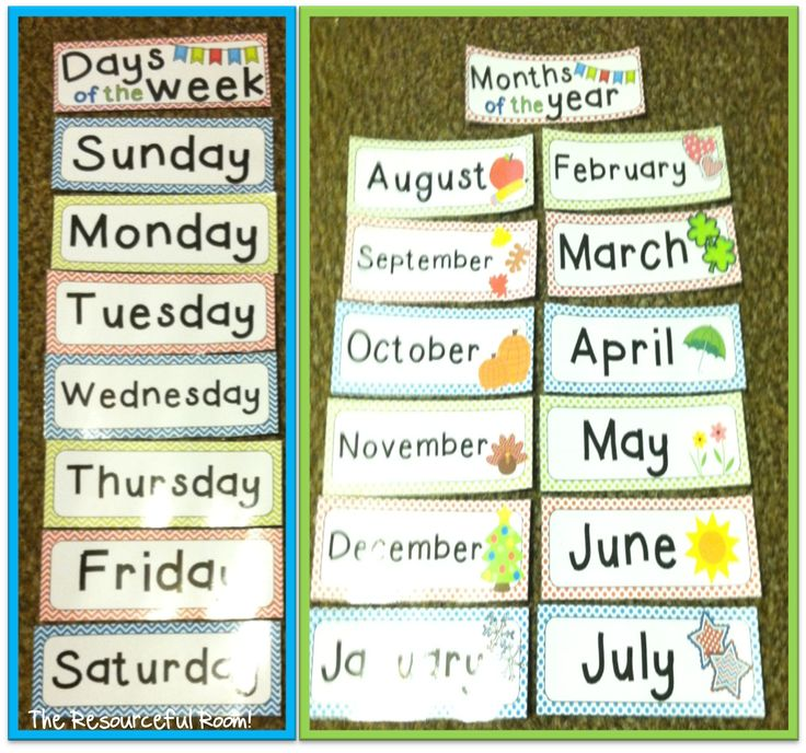 Best Images About Kdg  Free Days And Months Charts On