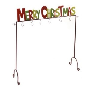 Merry Christmas Metal Stocking Holder * Christmas Stocking Holder * Trees *  NEW | EBay