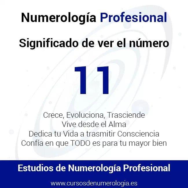 Número 11. Significado del número 11. Ver el número 11.