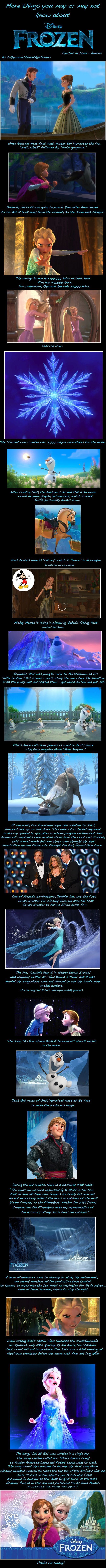 More things you may or may not know about Frozen. #disneyprincess #frozen