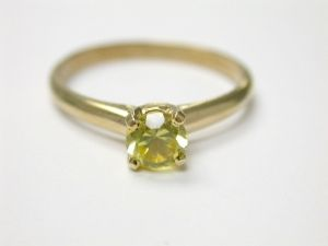 Yellow Topaz Solitaire