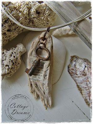 Absolutely beautiful Driftwood Necklaces from Cottage Dreams .........................................................................................................Schmuck im Wert von mindestens g e s c h e n k t !! Silandu.de besuchen und Gutscheincode eingeben: HTTKQJNQ-2016