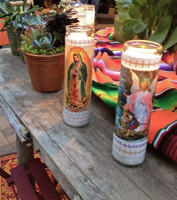 Prayer Candles- I took this photo at a succulent garden shop in San Diego at Christmas time!