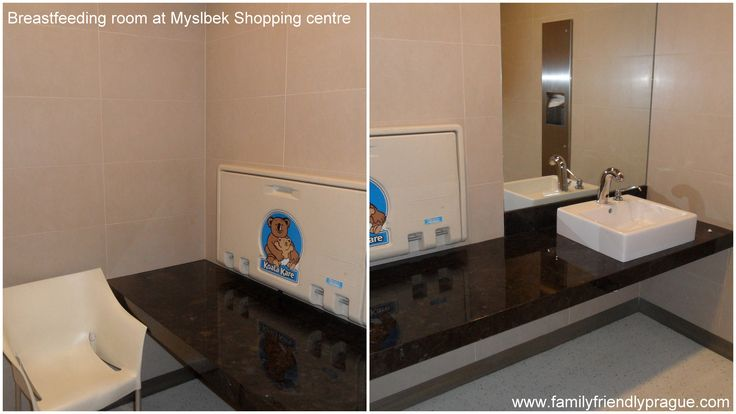 Myslbek Shopping Gallery - there is a special room on 1st floor, with table and wash basin, and a chair for breastfeeding as well. This is definitely one of the cleanest place for diaper change and breastfeeding in downtown.