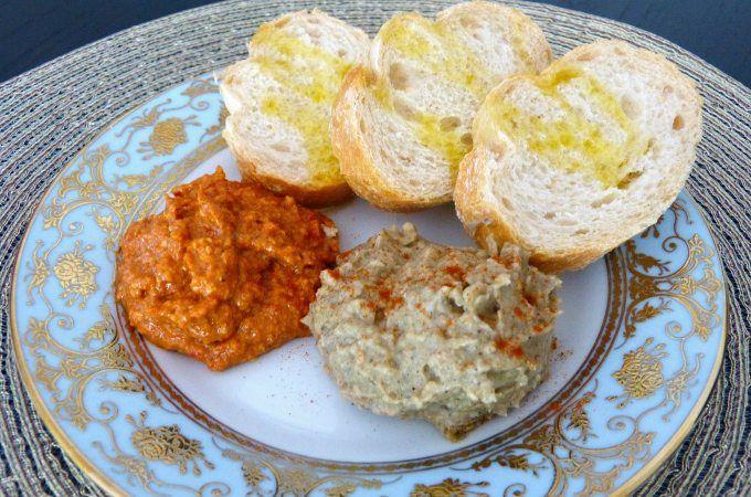 2 overheerlijke mezze uit de Noord-Afrikaanse keuken: baba ganoush en muhamarra. Simpel om te maken en heerlijk met vers brood. Bekijk hier de recepten.