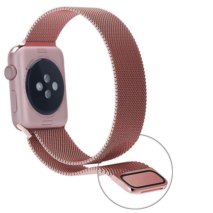 Para apple watch bandas 38mm milanesa de bucle de la correa de oro rosa pulsera de acero inoxidable para iwatch serie 2 banda de 42mm correa en Correas de reloj de Relojes en AliExpress.com   Alibaba Group
