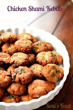 Chicken Shami Kebabs - Shami Kebab is a traditional Kebab from Awadhi Cuisine hailing from the state of Uttar Pradesh in India and was introduced by the Moghuls.Its traditionally made using Ground Goat Meat, but I've used Ground Chicken. - Gluten Free