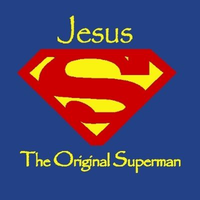 Jesus, the Original Superman Christian T-shirt