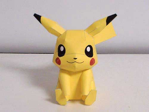 So cute!  Free Pikachu Papercraft Template!