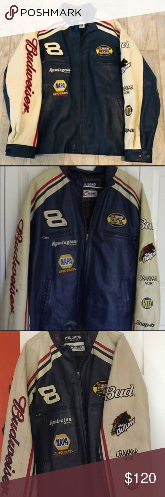 Wilson's Leather Dale Earnhardt NASCAR Jacket Wi…