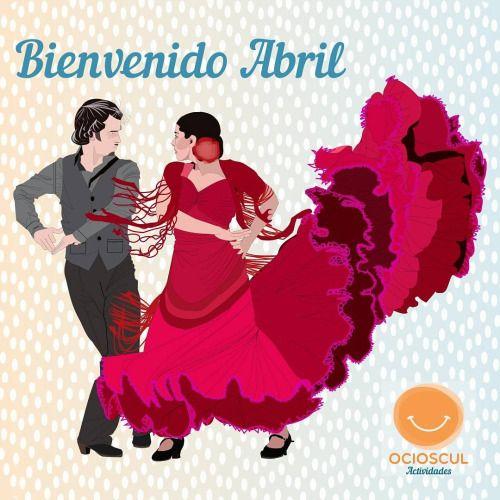 Abril ya está aquí y es sinónimo de feria Y para nosotros de últimos repaso en nuestras clases de sevillanas  #BienvenidoAbril #Feria #Sevillanas #Zaragoza