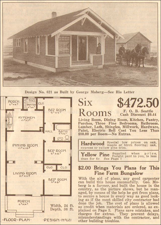 Many Great Vintage Floor Plans