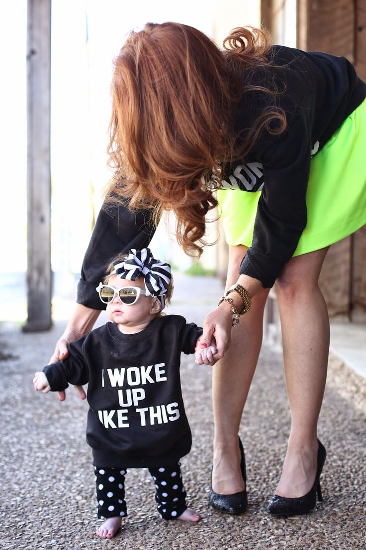 Jimmy Choos and Tennis Shoes, Mommy and Me, Kid Photoshoot , Baby Style, 3 Monkeys