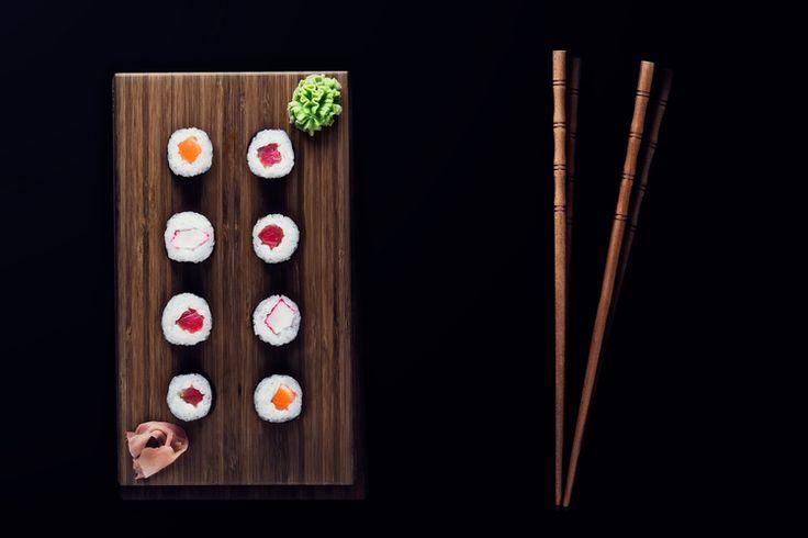 Produktová fotografie - jídlo, sushi. Product photo, food styling, sushi.