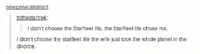 I didn't know Bones was on tumblr lol - Star Trek
