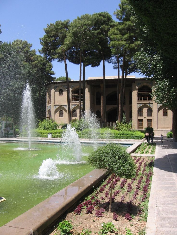 "Hasht Behesht Palace -  The Palace of ""Eight Paradises"" (built in 1669 Safavid dynasty period) in ISFAHAN, IRAN"