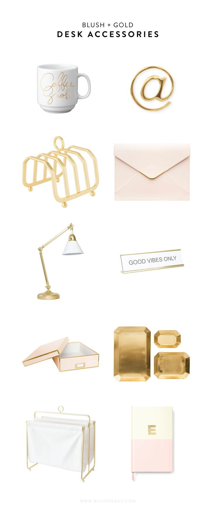best  modern desk accessories ideas on pinterest  office desk  - a roundup of modern blush and gold desk accessories you just can't go
