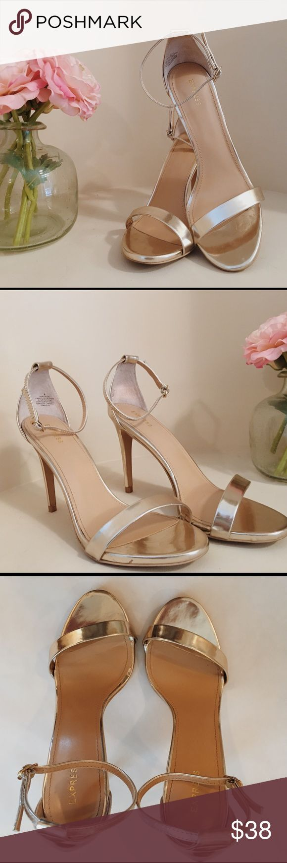 Express Gold Stilettos: 8 Express Gold Stilettos size 8. Worn once- like new! Express Shoes