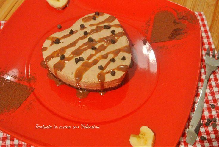 Mini+Cheesecake+cuore+Cioccolato+e+banana