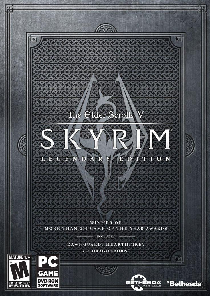 The Elder Scrolls V: Skyrim - Legendary Edition PC Physical Game Disc US