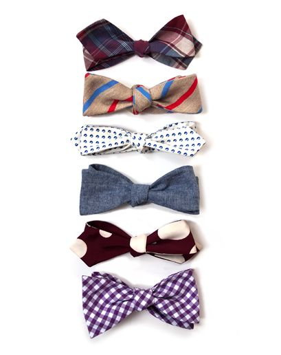 //the bowtie.  (top to bottom: Todd Snyder, Band of Outsiders, Steven Alan, Bespoken, Alexander Olch, The Tie Bar)