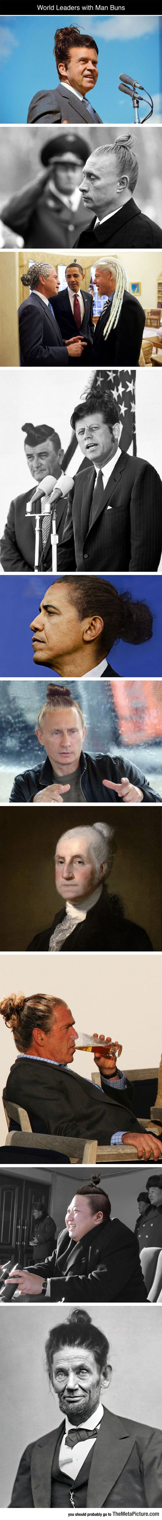 Leaders With Man Buns. So bad I can't look at it without laughing.