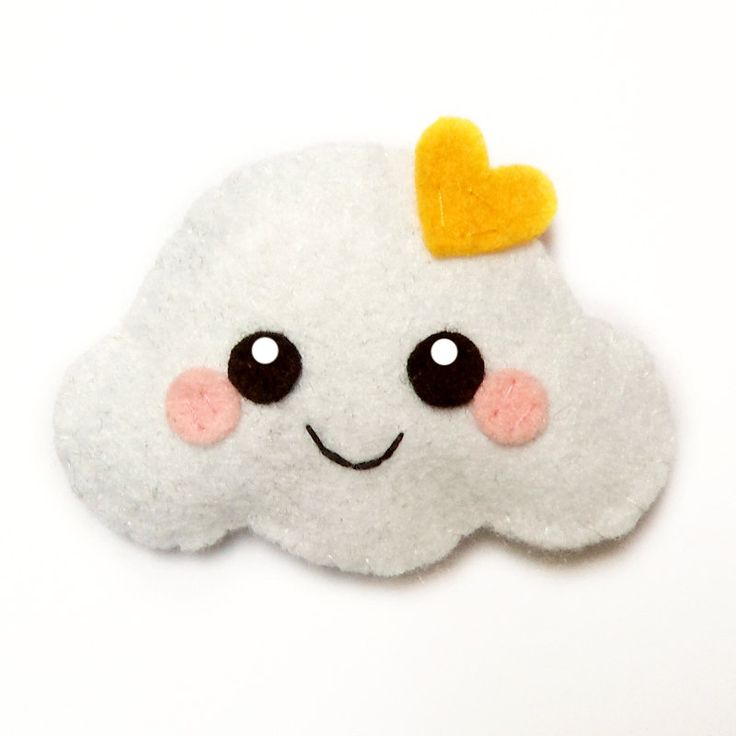 Happy Cloud Felt Accessory, can be used as both a brooch and a hair clip.  via Etsy.
