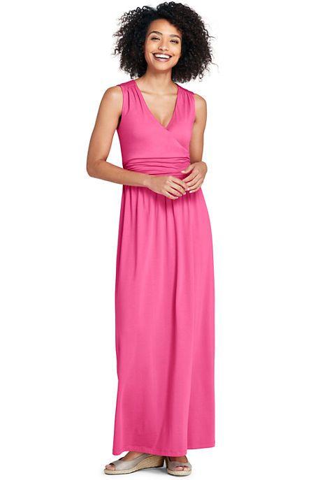 c15bf54aae Women s Tall Sleeveless Knit Surplice Maxi Dress