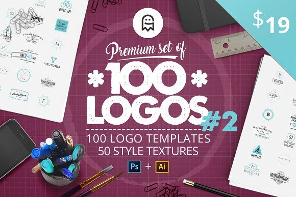 Premium set of 100 Logos #2 by Graphic Ghost on @Creative Market #graphicghost #professional #logo #creators #kit #creation #create #pro #ultimate #best #bundle #set #vintage #retro #calligraphy #lettering #letters #logodesign #logos #monogram #brand #branding #template #templates #minimal #tool #tools #badge #label #tag #typography #clean #feminine #textures #watercolor #patterns #artists #hand #drawn #handmade #design #designer #graphics #graphicdesign #ai #psd #adobe #photoshop #mockup