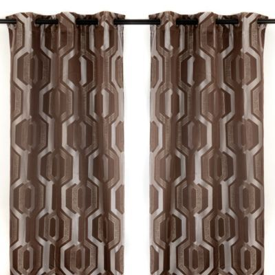 Hexagon Mink Curtain Panel Set | Kirkland's