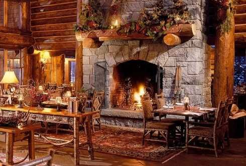 Log home fireplaces see more lodge log home fireplaces for Country home and hearth