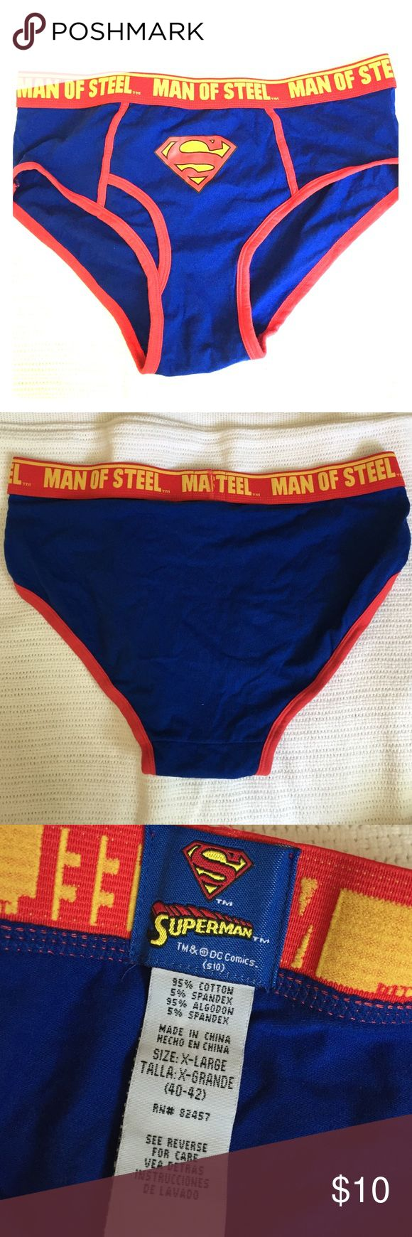 Superman underwear Only used once as a costume prop. So if you're looking to be Man of Steel for Halloween, this is it! Underwear & Socks Briefs