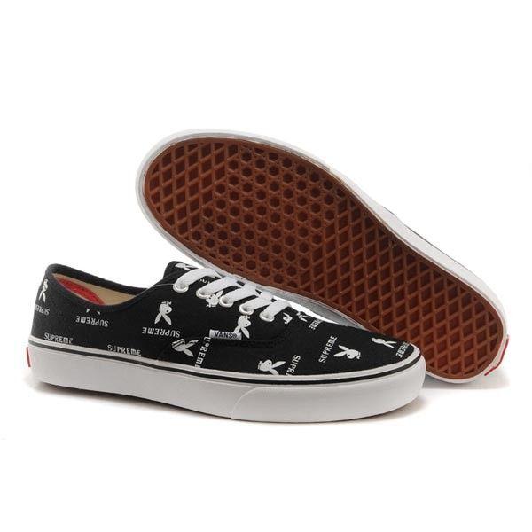Vans Authentic Pro Shoes MensWomens Classic Canvas Sneakers Black Supreme X Playboy [vans4u4018] - $39.99 : Vans Shop, Vans Shop in California