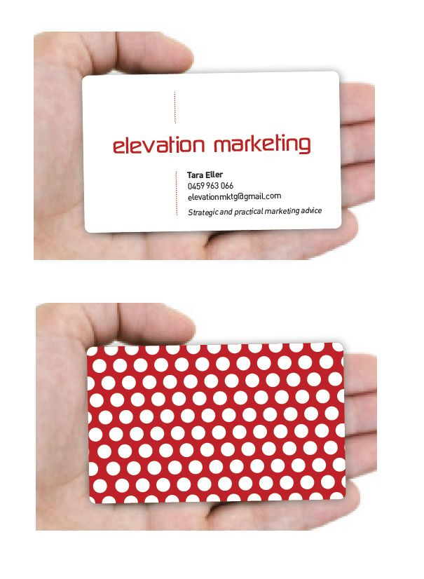 Elevation Marketing logo & business card design for young, funky marketing & communications business by RIS Designs. www.risdesigns.com.au