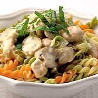 Recept - Pasta met romige kip-champignonsaus - Allerhande