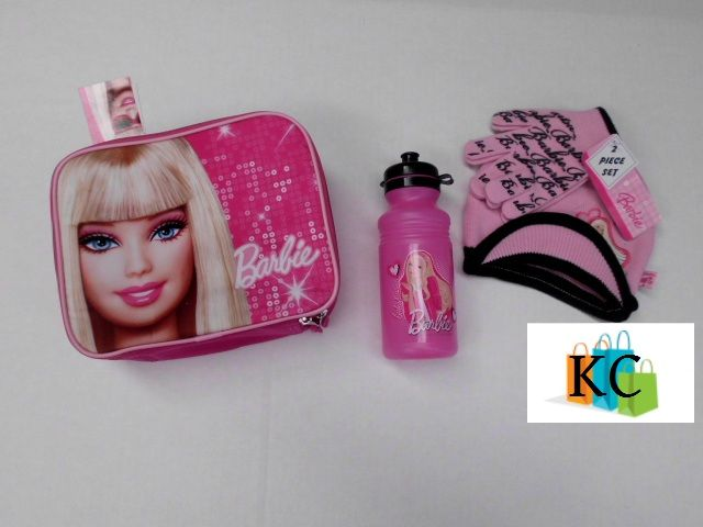 Barbie  Lunch bag, Beanie set, Drink bottle $52.00 Layby Welcome on All Sets.. $10 per week