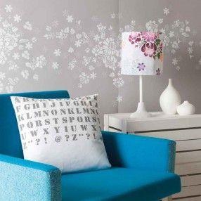 Schablone selbstklebend Blumen 18,5x24,5cm - idee. Online-Shop