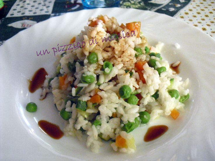 Riso di verdure al vapore con soia