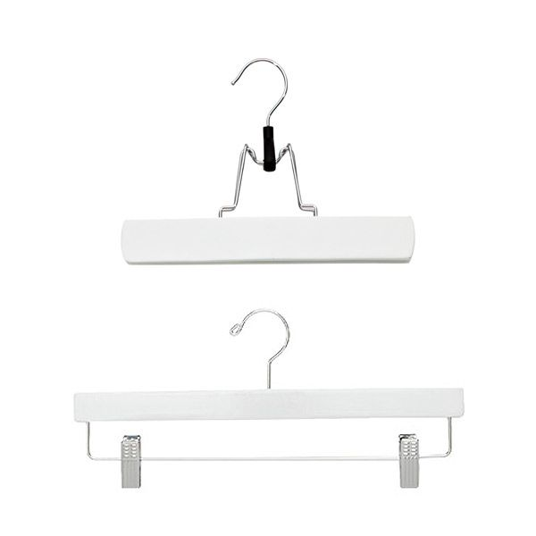 White Hardwood Trouser Clamp & Skirt Hanger