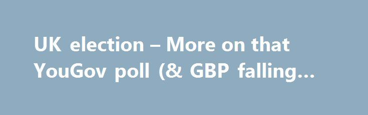 UK election – More on that YouGov poll (& GBP falling now) http://betiforexcom.livejournal.com/24265731.html  Headline here: Election: Poll projects UK conservative party to fall 16 seats short of overall majority That was a pretty good and timely heads up to GBP traders, if I do say so myself.The post UK election – More on that YouGov poll (& GBP falling now) appeared first on Forex news - Binary options. http://betiforex.com/uk-election-more-on-that-yougov-poll-gbp-falling-now/