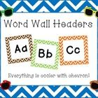 Looking to spruce of your word wall with the hottest print in town?  Enjoy these chevron word wall headers in the following colors... red, orange, ...
