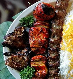 Buy $1 voucher, make combo from the main and sides of the following and save $6.  Main Persian Kebab  - Kubideh (lamb shoulder blended with saffron & finely chopped onion) - $12  - Jujeh (Free range chicken thighs marinated in onion juice & saffron) - $12  - Chenjeh (Lamb fillet marinated in chef's special sauce) - $13  - Shish Kebab (Spice of shish kebab) - $12  - Zeresk polo (Safron Rice, Chicken Topped with Berries, Dried Pomegranate) - $12  - Fish with rice